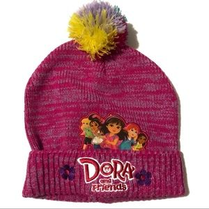 Dora and Friends Pink Chambray Beanie